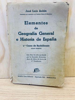 Elementos de Geografia General e Historia de españ