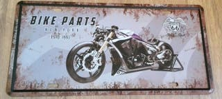 Cartel decoración de motos. Bike parts