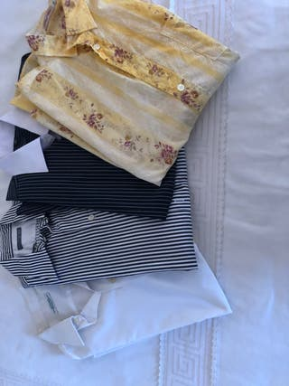 Lote 4 camisas hombre varias marcas