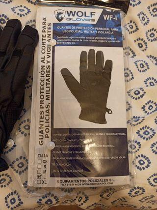 Guantes anticorte y antipinchazos Wolf gloves.