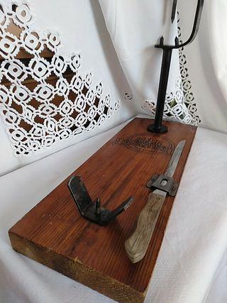 Robusto jamonero con cuchillo de Albacete