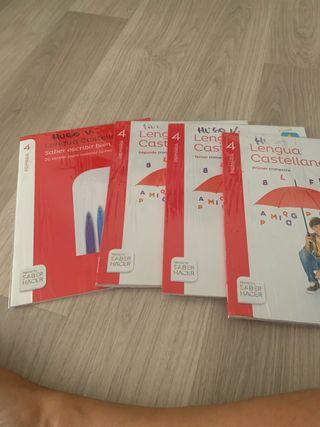 4 libros Lengua Castellana 4 Primaria Santillana
