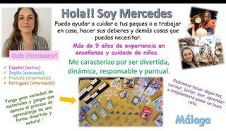 profesora inglés y español/ niñera/ apoyo deberes