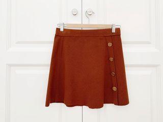 Minifalda punto botones