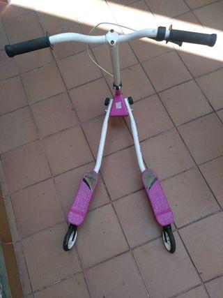 patinete doble base 3 ruedas