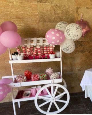 Candy bar carrito comunion