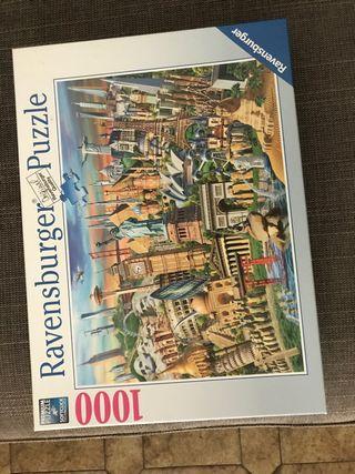 Puzzle maravillas del mundo 1000 piezas