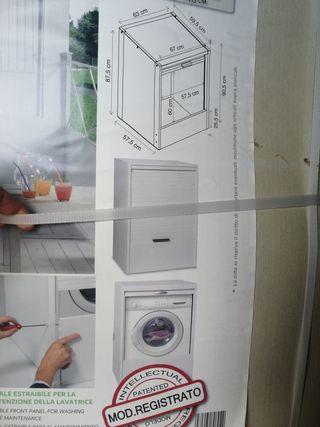 mueble de lavadora o secadora