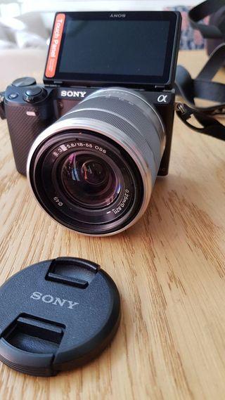 Cámara fotos Sony NEX-5R, 16,1 MP con funda