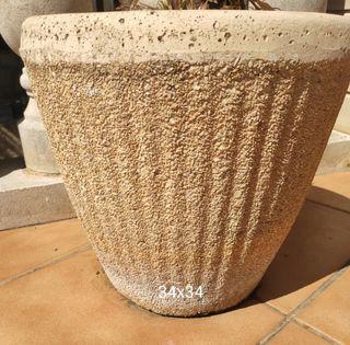 8 Macetas piedra / Jardineras piedra