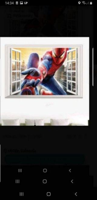 Vinilo de Spiderman 3D 40x60 completamente nuevo a