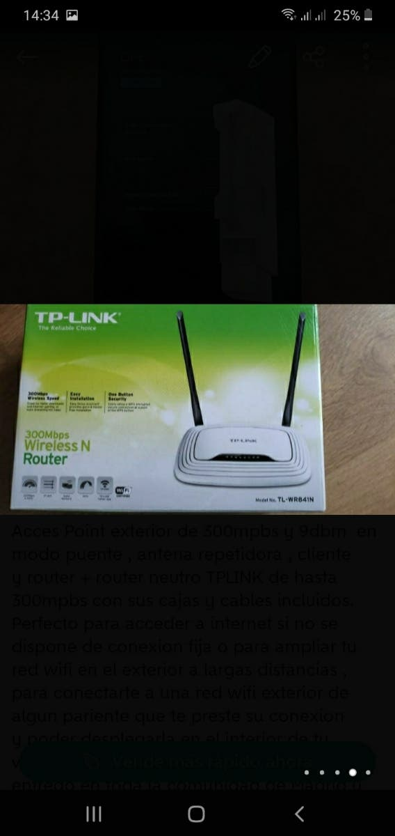 Router neutro rj45 TPLINK