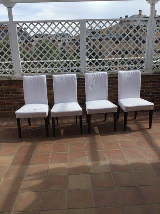 4 sillas salón/comedor blancas