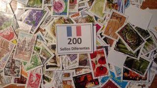 FRANCIA.-400 Sellos conmemorativos en usados