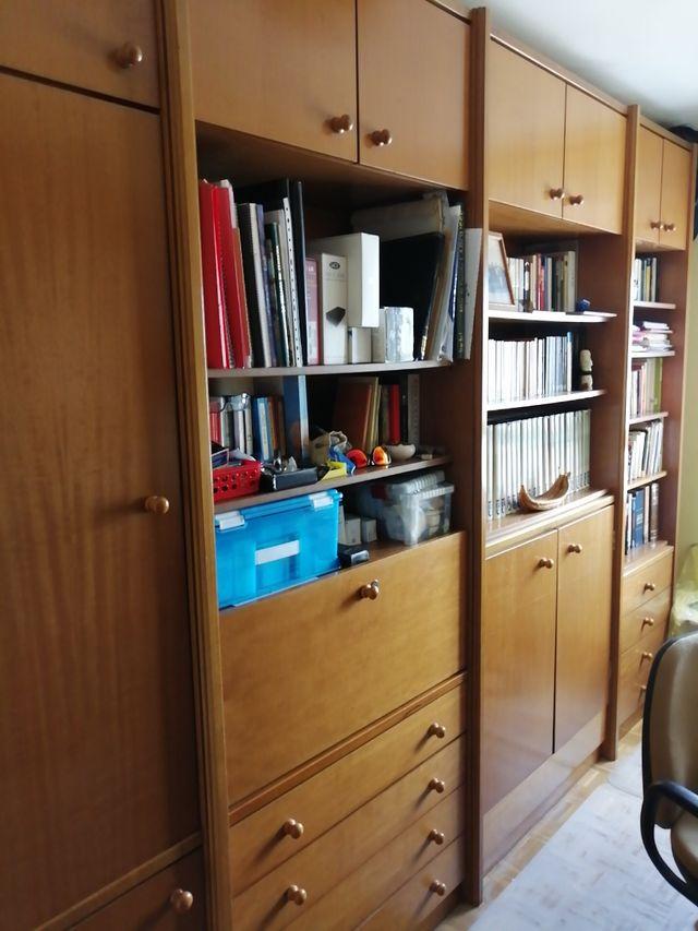Mueble biblioteca despacho con armario