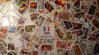 FRANCIA.- 300 Sellos diferentes en usados