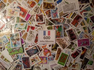 FRANCIA.- 600 Sellos Diferentes en Usados