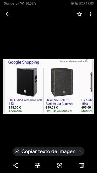 HK audio premium pro 15X precio por las 2 unidades