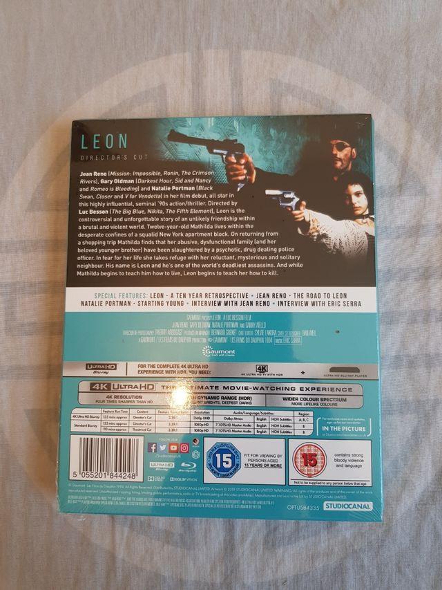 Leon 4k ULTRA HD Blu Ray STEELBOOK NEW and SEALED