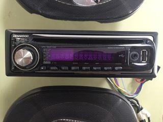 Radio CD Kenwood + altavoces Blackpunt