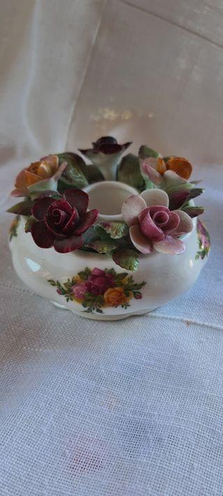Portavelas ceràmica inglesa Royal Albert