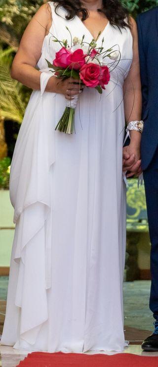 vestido de novia y zapatos novia
