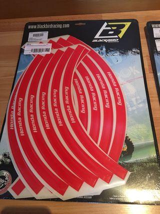 Pegatinas adhesivo llanta moto Honda Racing