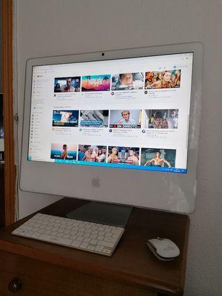 "Apple iMac de 24"" con Windows 10."