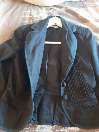 chaqueta de vestir negra