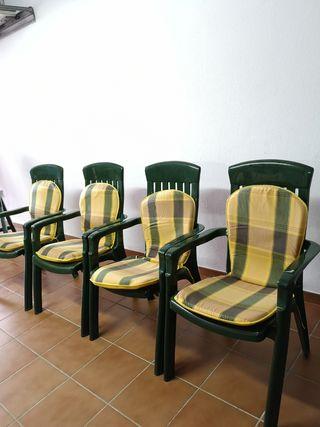 sillas de terraza con cojines nuevas