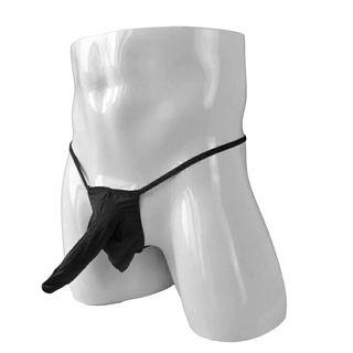 Calzoncillo tanga suspensorio negro ropa interior