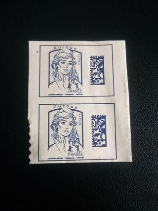 2 segells França en curs. 2 sellos de Francia