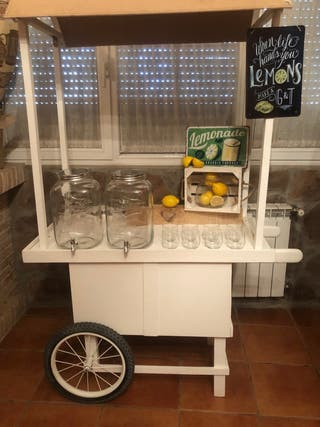 Candy bar carrito alquiler eventos. Limonada