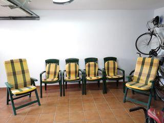 conjunto de terraza jardin 4 sillas y 2 butacas