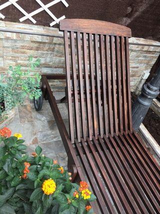Conjunto de 2 Tumbonas de jardín en madera