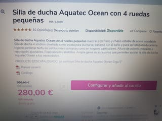 silla ducha minusválido Aquatec Ocean 4