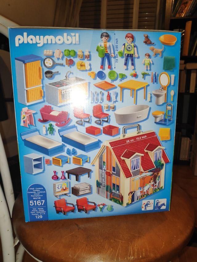 Casa muñecas maletin Playmobil