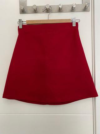 Falda Zara roja