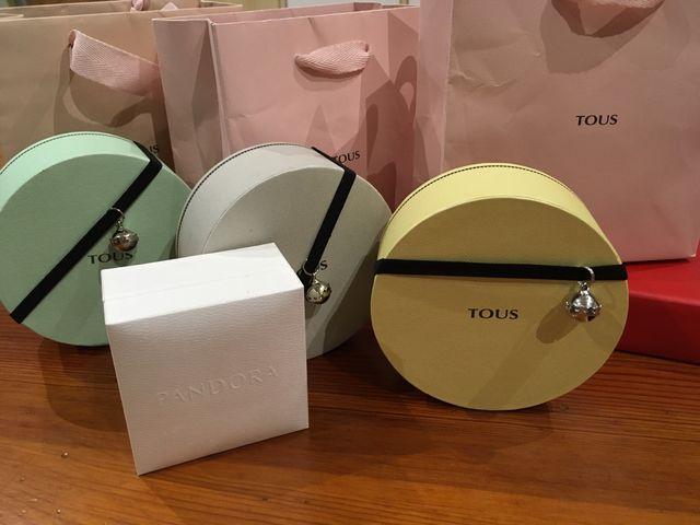 Lote 3 Cajas y bolsas Tous y Pandora