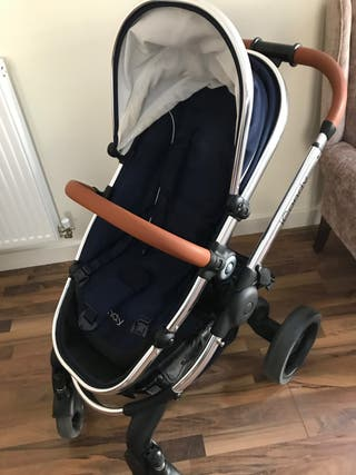 ICANDY BLUE ROYAL PEACH PUSHCHAIR AND CARRYCOT