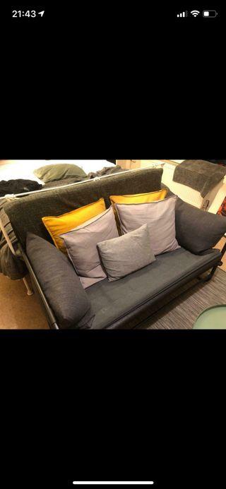 IKEA HAMMARN Sofa-bed, Knisa dark grey 120 cm