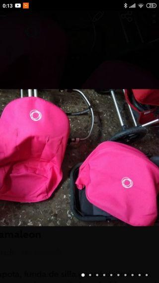 capota más funda silla Bugaboo rosa