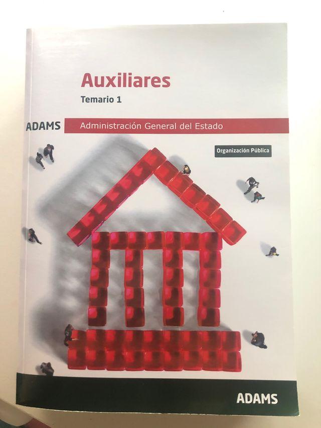 Libros ADAMS oposicion aux. administrativo estado