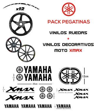 YAMAHA XMAX PACK vinilos ruedas y moto-XMAX