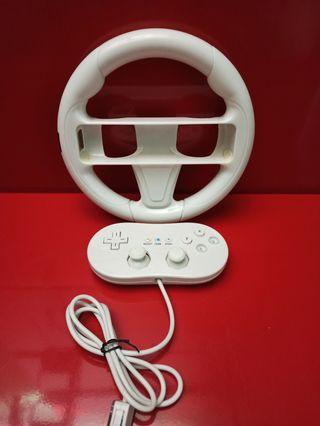 Mando pro y volante para Nintendo Wii U y wii