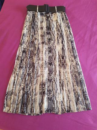 Falda plisada Zara