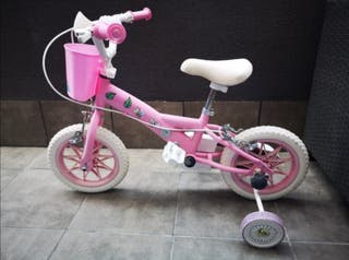 Bicicleta de niña de 12 pulgadas, ruedas macizas
