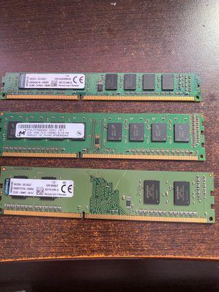 6gb (2+2+2gb) DDR3 a 1333mhz memoria RAM 10.600mhz
