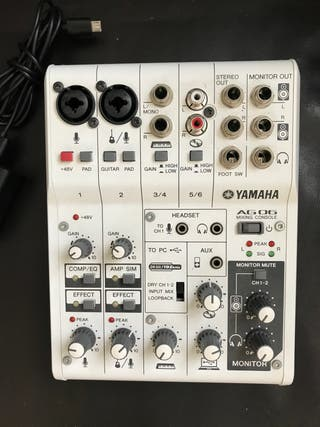 Mezclador analógico Yamaha AG 06