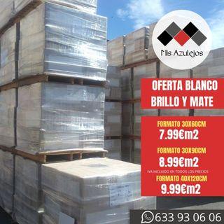 AZULEJOS BLANCO BRILLO Y MATE EN OFERTA DESDE 7,99